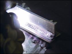 An exapmple of TIG welding on aluminium